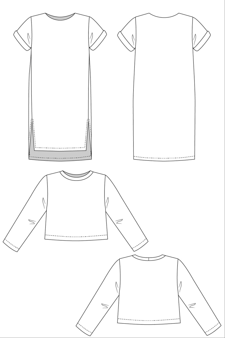 INARI dress & crop tee pattern- Named Clothing