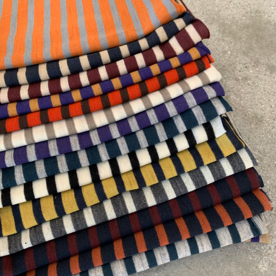 T-shirt stripe Orange/Grey(5)   $25 per metre