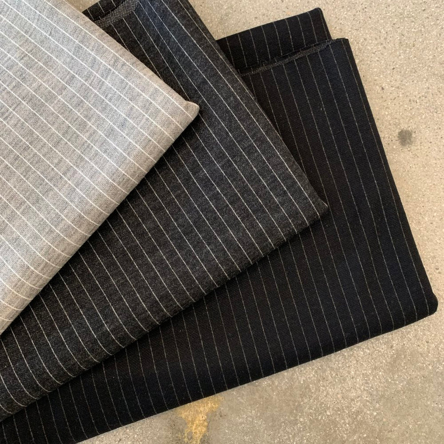 Sample Stripe Charcoal