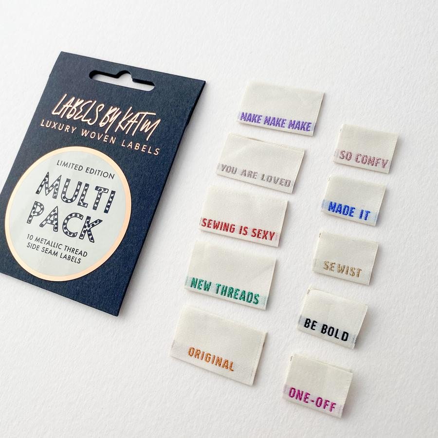 *Limited Edition* METALLIC SIDE SEAM MULTI PACK- Kylie and Machine labels