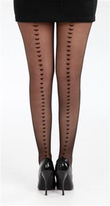 Tights Sheer 28 Hearts By Pamela Mann