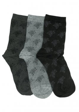 Socks Cotton Crew 3 Pair Pack Flower