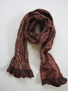 Scarf Ethnic Rich Brown