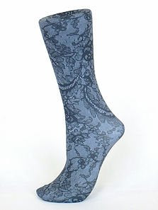 Couture Trouser Socks - Midnight Lace
