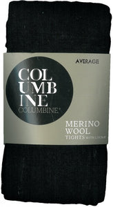 Tights Premium Merino Wool Black By Columbine