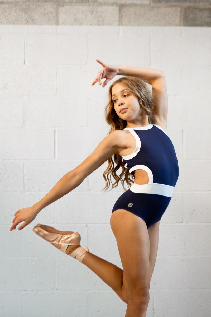 Navy Wisteria Leotard