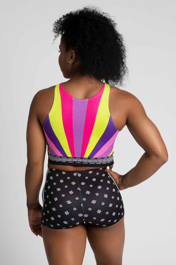 Rainbow Dragon Reversible Cropped Singlet