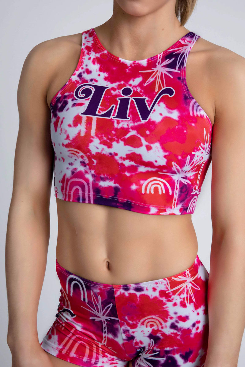 Personalised Ride the Wave Cropped Singlet