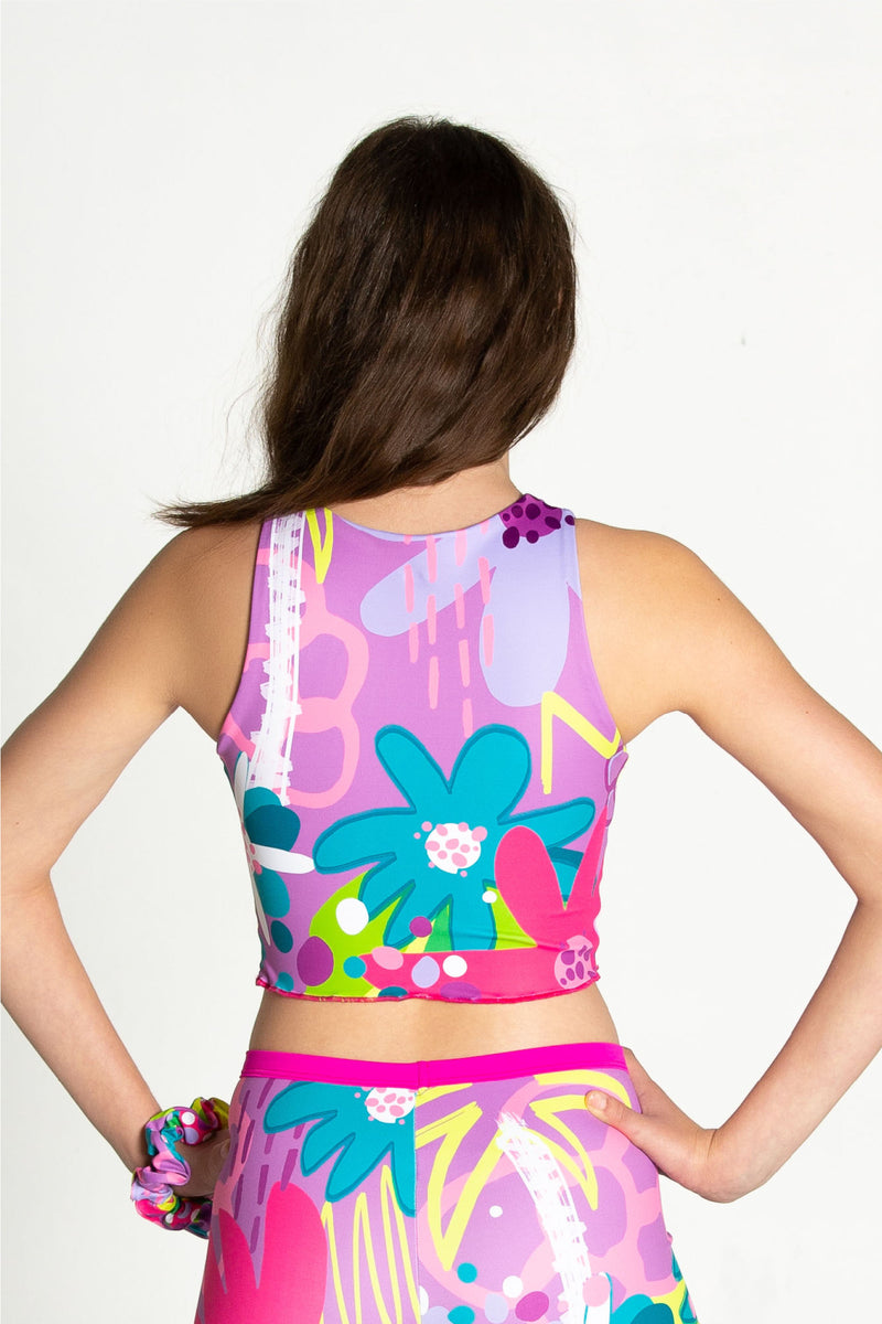 Wild Child Reversible Cropped Singlet