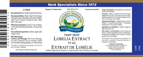 Lobelia Extract (59 mL liquid)