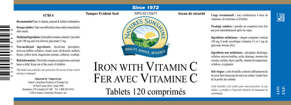 Iron with Vitamin C (120 tabs)