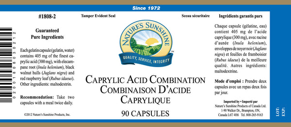 Caprylic Acid Combination (90 caps)