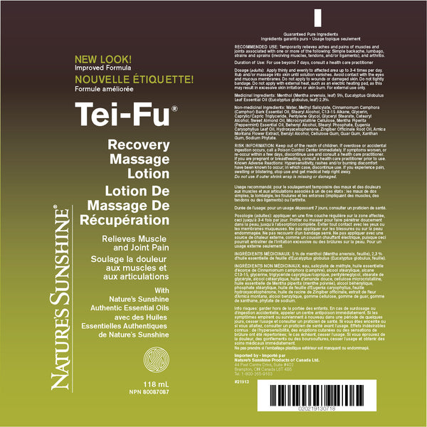 Tei-Fu Recovery Massage Lotion (118 ml)