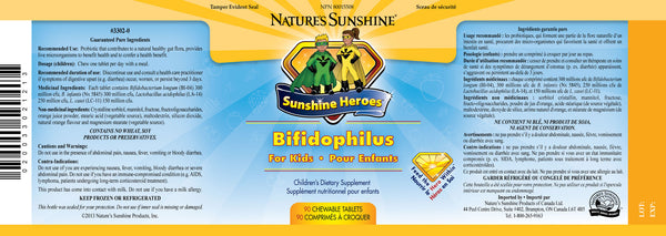 Sunshine Heroes Chewable Bifidophilus (90 chewable tablets)