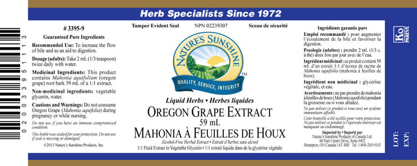Oregon Grape extract (59 mL liquid)