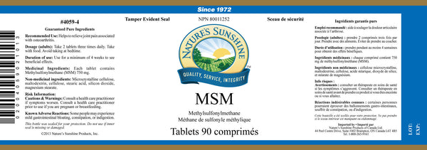 MSM (90 tablets)
