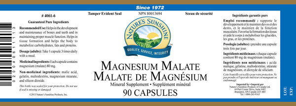 Magnesium Malate  (90 capsules) (formerly Fibralgia)