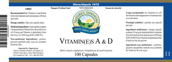 Vitamines A&D
