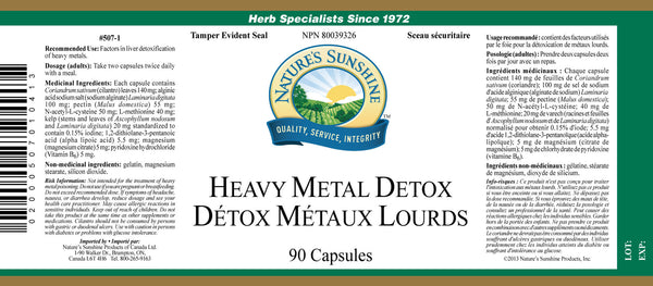 Heavy Metal Detox (90 caps)