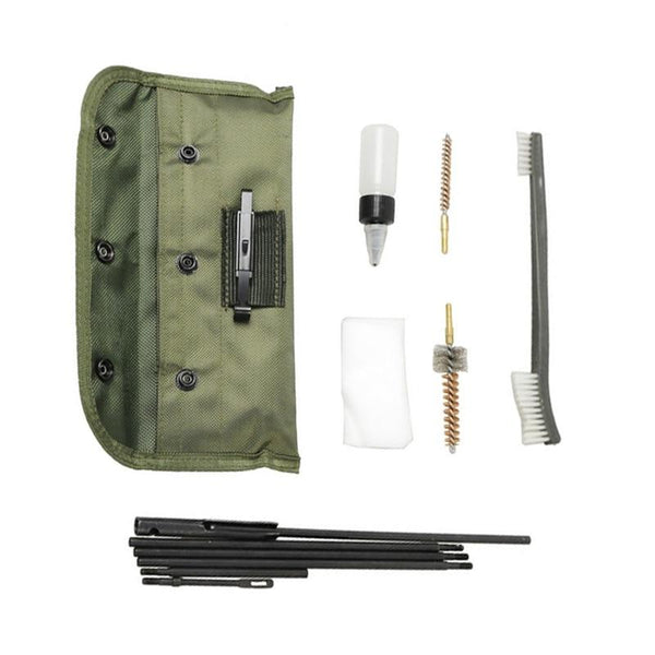 Airsoft® M4 M16 Rifle Gun Cleaning Kit 10 Pieces .22 .30cal 5.56mm Brushes Set Clean Rod Convenient Nylon Case Hunting Accessory - shopency