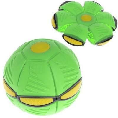 Flying UFO Flat Throw Disc Ball With LED Light and music Magic Flying Ball - shopency