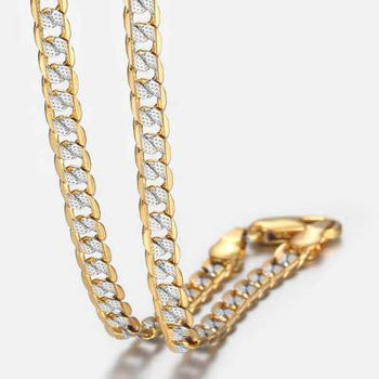 Gold Filled Chain Necklace Men Women Cuban Link Chain - shopency