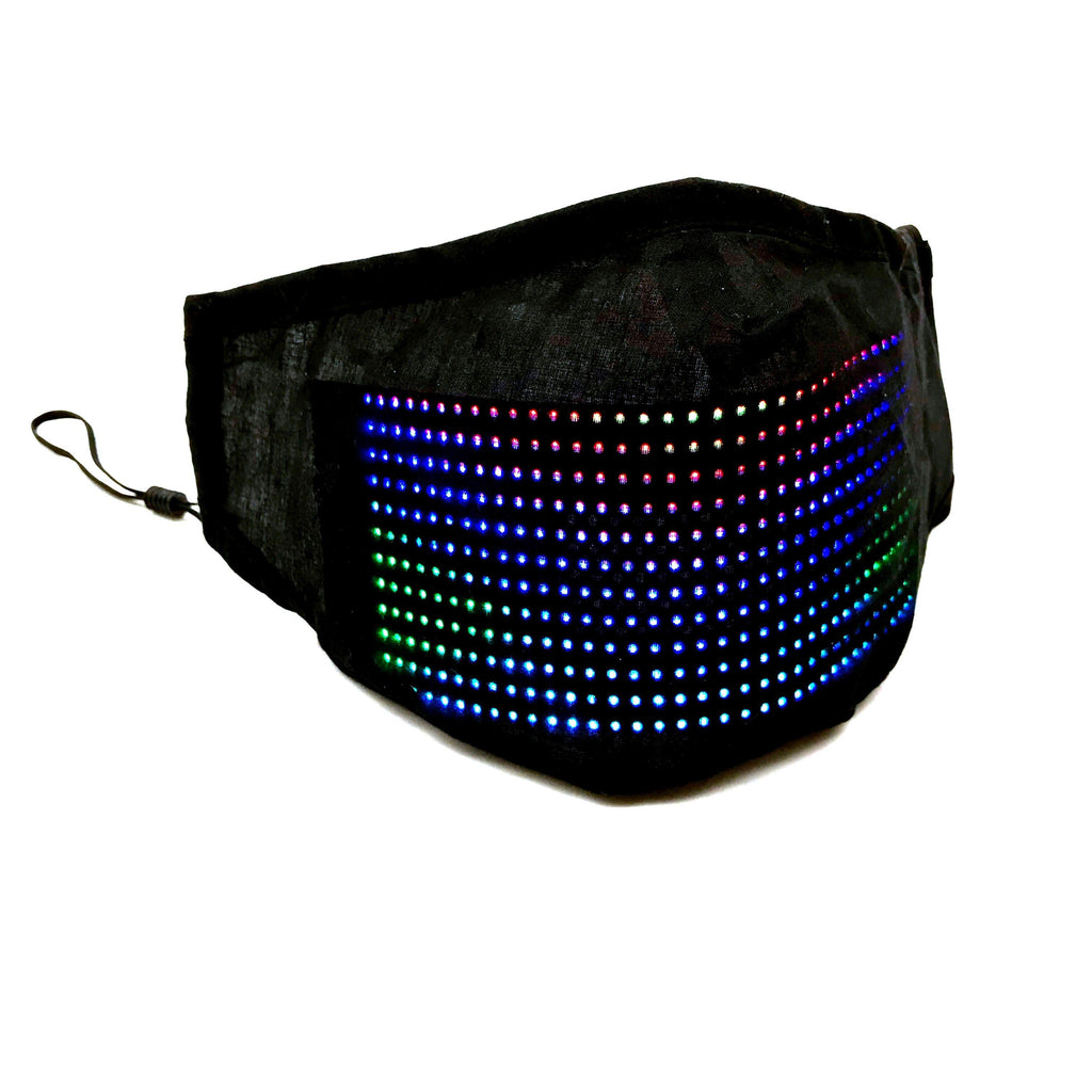 LED Full color Mask Fashion Smartphone Control Text Scrolling LED Mask, Editable Pattern Display, Music Equalizer - shopency