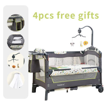 Multifunctional Folding Baby Cradle Bed Fashion Portable Game Bed 0-3 Years Baby Bed Band - shopency