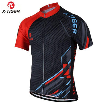 X-TIGER® 2020 Summer Cycling Jersey Breathable MTB Bike Clothes Short Sleeve Mountain Bicycle Clothing Cycling Uniform For Men - shopency