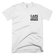 Load image into Gallery viewer, The Badge Tee - Cars and Coffee® Austin