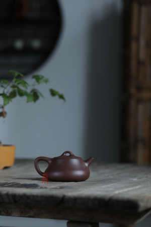 纳瓢 Na Piao 230ML Di Cao Qing zini 粗砂 底槽清 沈美华 Shen Mei Hua - The Phans Yixing Zisha Teapot