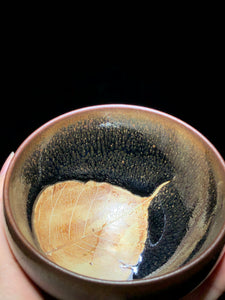 木叶建盏 Mu Ye (leaf)  with golden partridge spot Jian Ware/Jian Zhan Cup - Yann Art Gallery