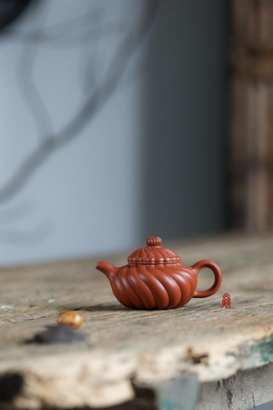 菊蕾 Ju Lei 许息根 Xu Xi Gen 原矿朱泥 Zhuni  120ml - The Phans Yixing Zisha Teapot