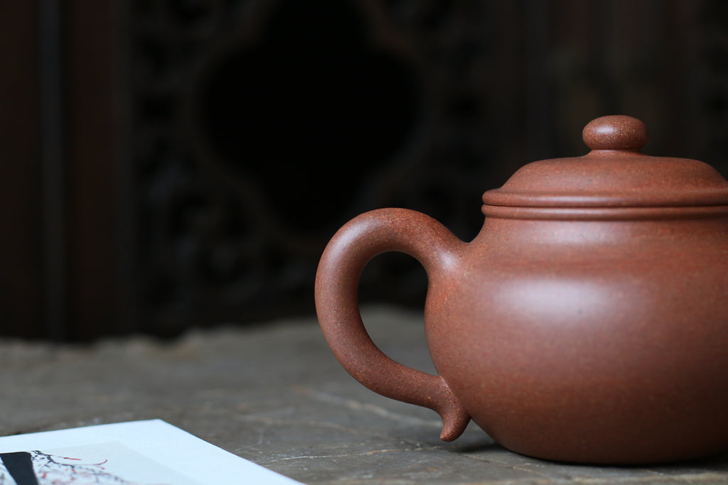 Gu Lian Zi Hu 古莲子壶 260ml Rainbow Jiang Po Ni 金林传砂 Jin Lin Chuan Sha七彩降坡泥 杭海. - The Phans Yixing Zisha Teapot
