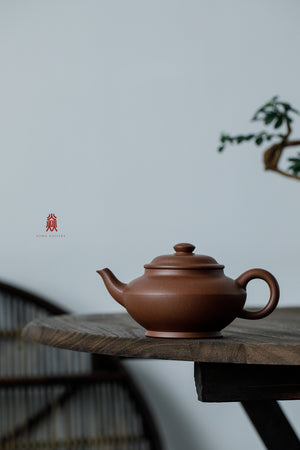 明式合欢 Ming Shi He Huan 30年底槽清 金林传砂 Di Cao Qing Zini 杭海. - The Phans Yixing Zisha Teapot