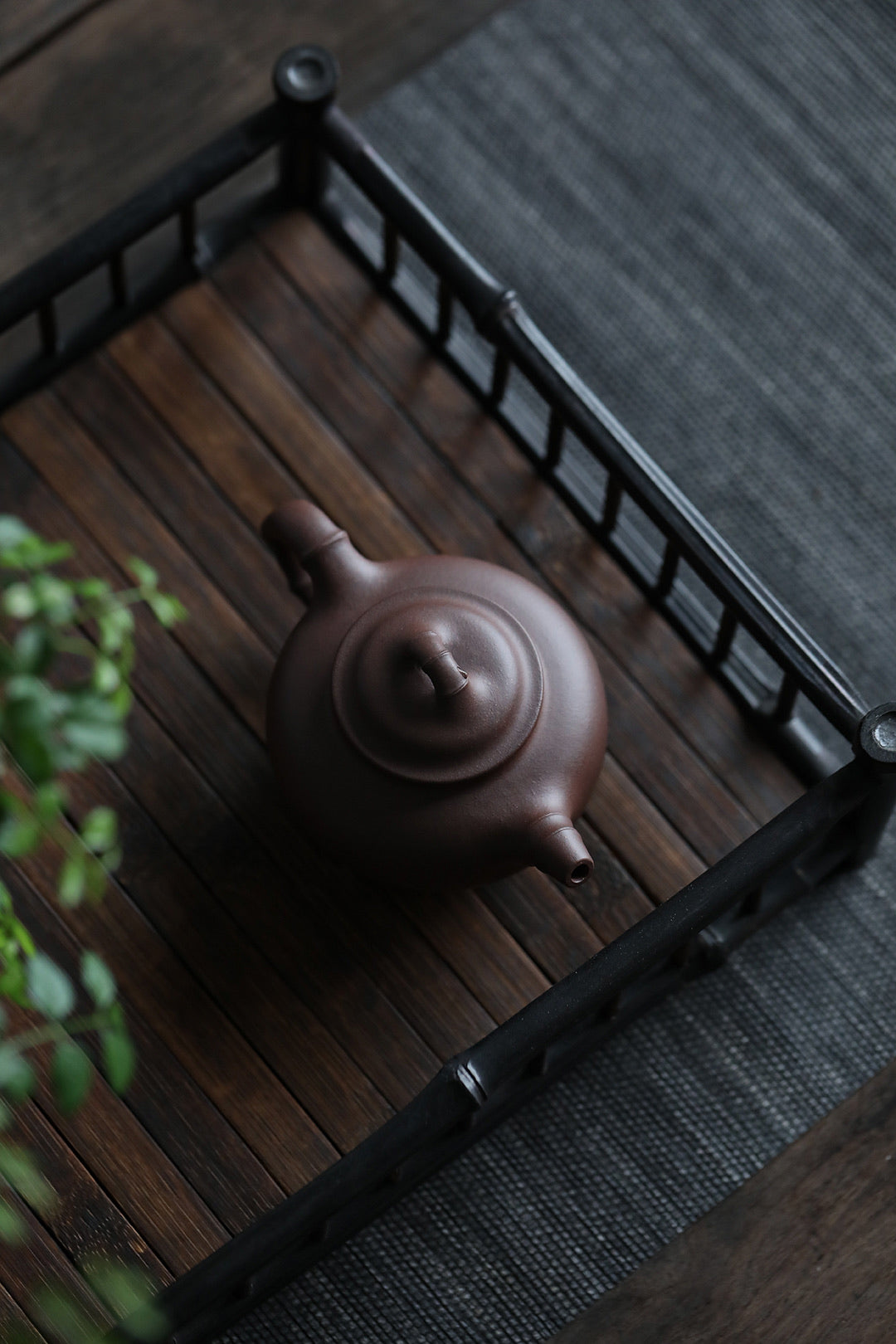平安竹 Ping'an Zhu Zini 原矿紫泥 佘荣飞 - The Phans Yixing Zisha Teapot
