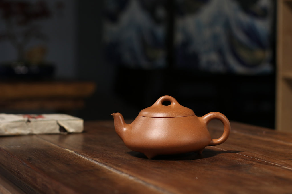 Han Tang Shi Piao 汉棠石瓢 260ml Aged Huang Jiang Po Ni 黄降坡泥 金林传砂 杭海. - The Phans Yixing Zisha Teapot