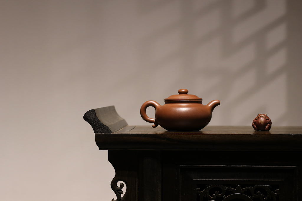 Fang Gu Hu 仿古壶 30年底槽清 金陵传砂 Jin Lin Chuan Sha Di Cao Qing Zini 400ml 杭海. - The Phans Yixing Zisha Teapot