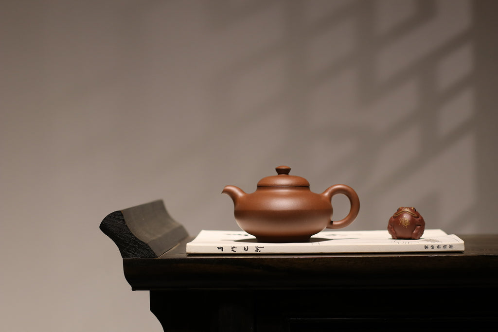 He Huan Hu 合欢壶 300ml 30年底槽清 金林传砂 Di Cao Qing Zini 杭海. - The Phans Yixing Zisha Teapot