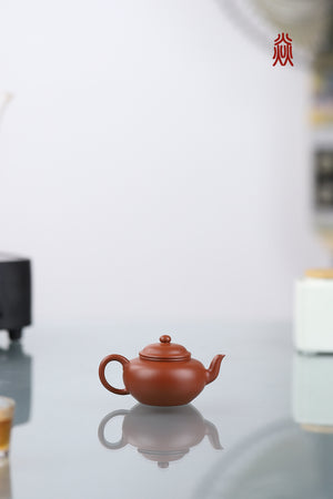 扁樱 Bian Ying 黄龙山朱泥 Huang Long Shan Zhuni 潘俊 Pan Jun 100ml - The Phans Yixing Zisha Teapot