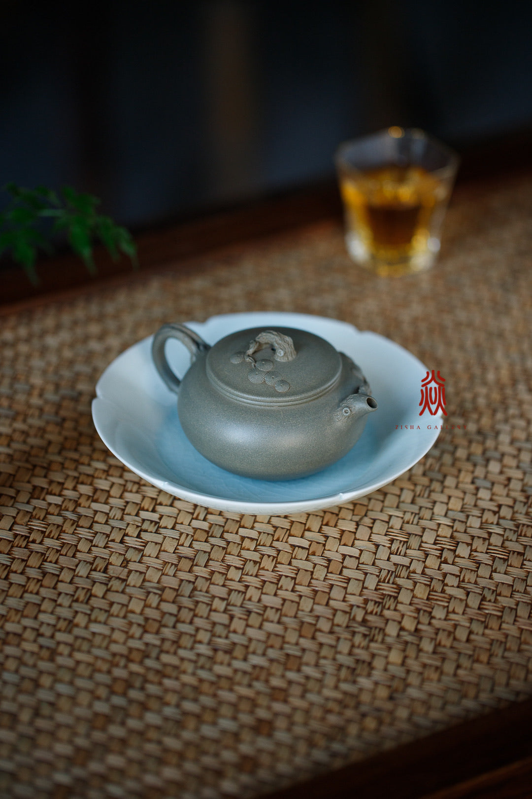 逸松 Yi Song 170ML 范志平 豆青泥 Dou Qing Ni - The Phans Yixing Zisha Teapot