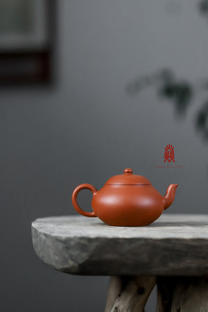 梨形壶 Pear 80ML 赵庄朱泥 Zhao Zhuang Zhuni 王建芳 Wang Jian Fang - The Phans Yixing Zisha Teapot