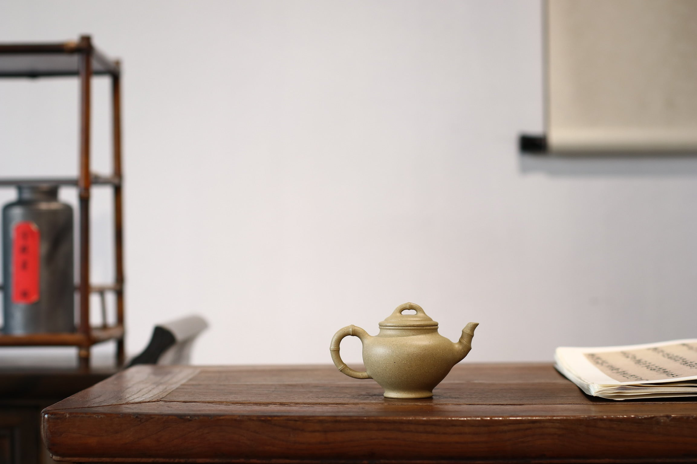 Bamboo Xiao Zhu Chun Hu 小竹春  Aged Ben Shan Lv 沈叶琴 - The Phans Yixing Zisha Teapot