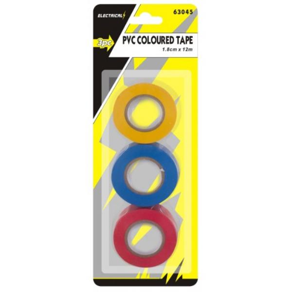 3pc Electrical PVC Tape Insulation - iPro Accessories