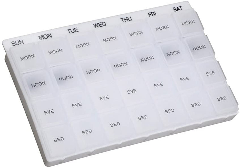 Daily Weekly Pill Box Organiser Medicine Tablet Storage Dispenser - iPro Accessories