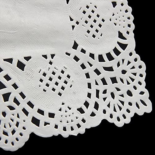 Paper Doillies Round Doily Lace for Catering Wedding Parties - iPro Accessories