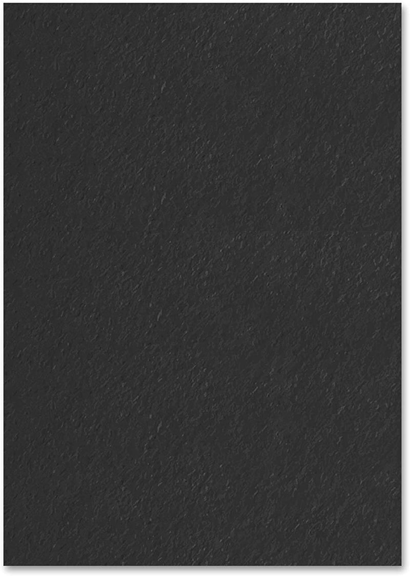 A4 50 Sheets Plain Black Paper Colouring Pad Book for Children Activity Play - iPro Accessories