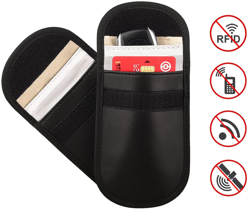Signal Blocker Case For Car Key Fob Faraday Keyless Entry Pouch RFID - iPro Accessories