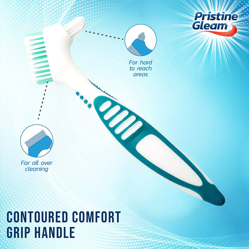 Denture Brush Deep Cleaning False Artificial Teeth Tooth Plaque Remover - iPro Accessories