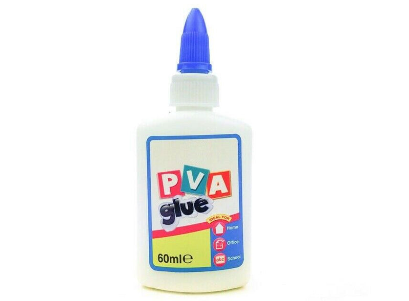PVA Glue 60ml General Purpose Adhesive Paper Cardboard Wood Craft Home School - iPro Accessories